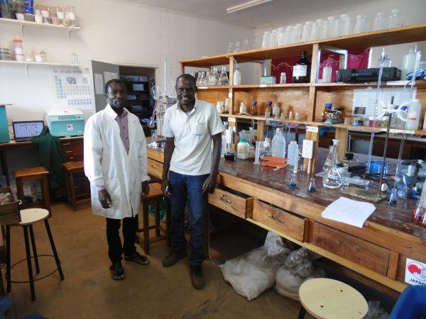 Das Bodenkundelabor der Lunyangwa Agricultural Research Station